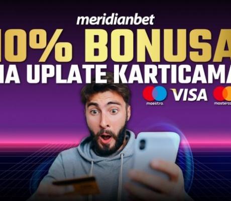 UPLATI DEPOZIT KARTICAMA I UZMI 10 % BONUSA