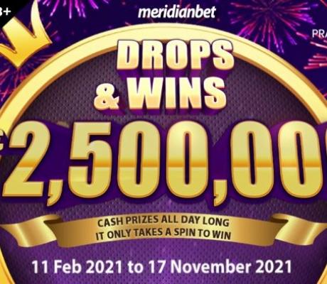 Meridian već ima EURO MILIONERA! Ko želi biti sljedeći? DROPS AND WINS zabava od 2.5 MILIONA!