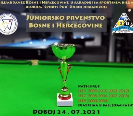 DOBOJ: Juniorsko prvenstvo Bosne i Hercegovine u biljaru