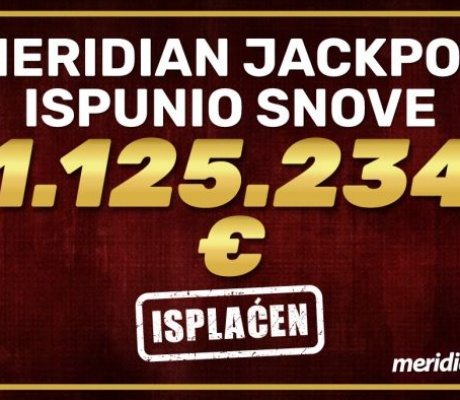SENZACIONALNO! Meridian Online Kazino na online slot igri ISPLATIO 1.1 MILION EURA!