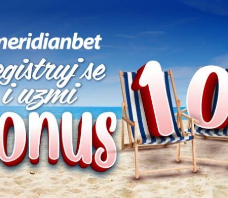 MERIDIANBET: Za nove igrače 10 KM bonusa i 100 besplatnih spinova
