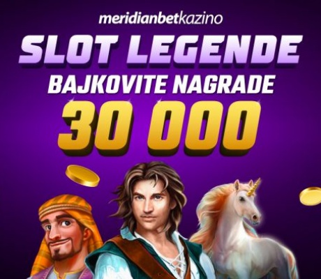 Meridian Online Kazino: 30.000 KM! Nagradni fond iz snova!