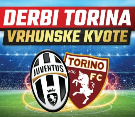 U Meridianu najbolje kvote za fudbalski derbi Juventus -Torino