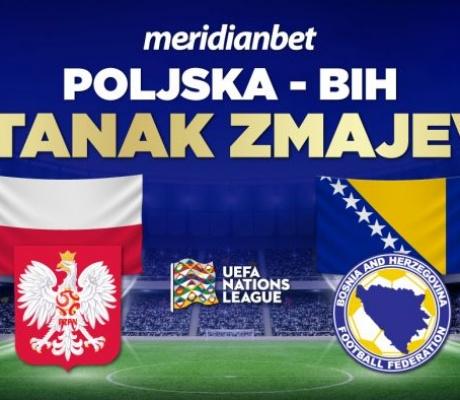 Samo u Meridianu, FENOMENALNI BONUS od 20 KM, bez uslova za meč Poljska – Bosna!