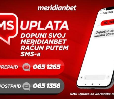 Meridianbet: SMS-om uplati , za zabavu uvijek i na svakom mjestu!
