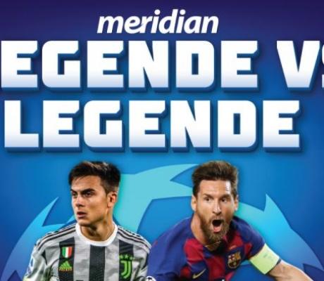 Meridianbet: Liga šampiona sa vrhunskim derbijem Juventus – Barselona!