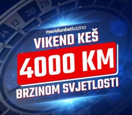 "Meridian Online Kazino: Vikend ""ludnica"" od 4.000 KM"