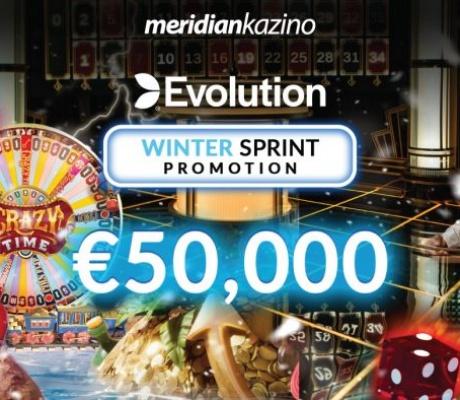 Meridian Online Kazino: Winter Sprint sa nagradnim fondom od 50.000 EURA!
